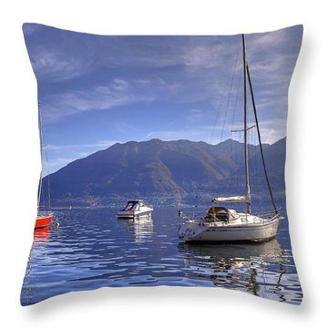 Lago Maggiore Throw Pillow by Joana Kruse