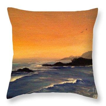 Laguna Sunset Throw Pillow by Barbara Gilroy