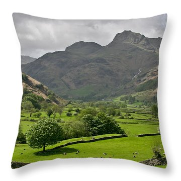 Lake District England Throw Pillow