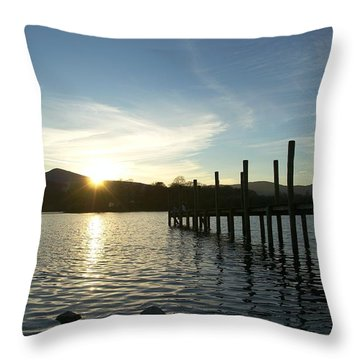 Lake District Sunset Throw Pillow