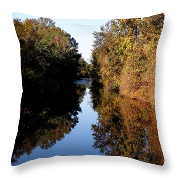 Lake Drummond Canal Throw Pillow by Feva  Fotos