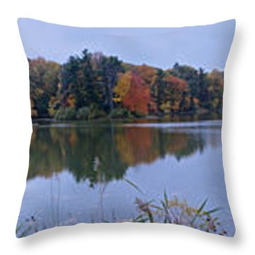 Throw Pillow featuring the photograph Lake Eastman by William Norton