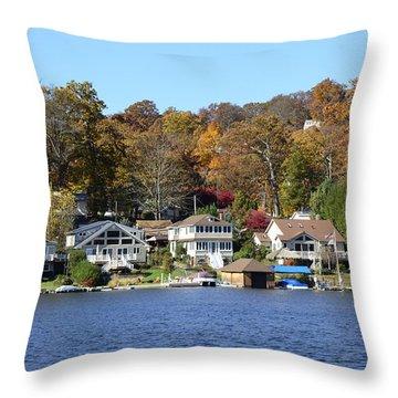 Lake Hopatcong Scene 3 Throw Pillow