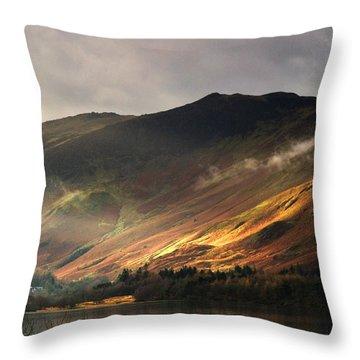 Lake In Cumbria, England Throw Pillow by John Short