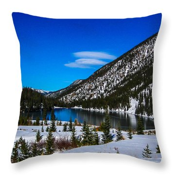 Throw Pillow featuring the photograph Lake In The Mountains by Shannon Harrington