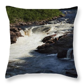 Throw Pillow featuring the photograph Lake Luzerne by Darleen Stry