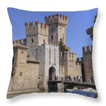 Lake Maggiore Sirmione Throw Pillow