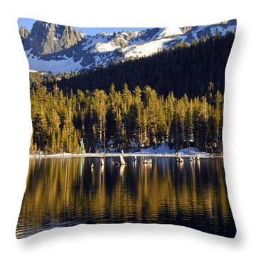 Throw Pillow featuring the photograph Lake Mary Reflections by Lynn Bauer