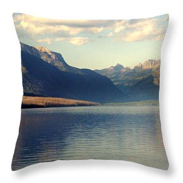 Lake Mcdonald At Sunset Throw Pillow by Marty Koch