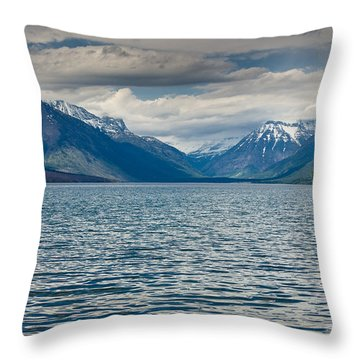 Lake Mcdonald Upon Storm Clearing Throw Pillow by Greg Nyquist
