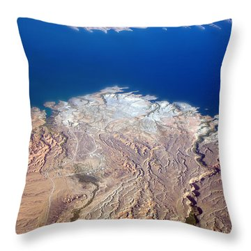 Lake Mead Nevada Aerial Throw Pillow by James BO  Insogna