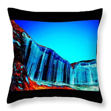 Lake Powell Blue Ice Throw Pillow by Rebecca Margraf
