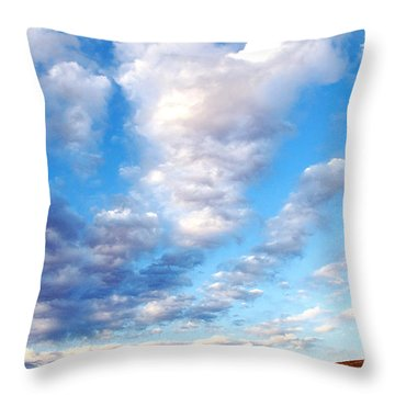 Lake Powell Clouds Throw Pillow by Thomas R Fletcher