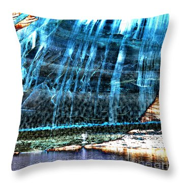 Lake Powell Reflection Throw Pillow by Rebecca Margraf