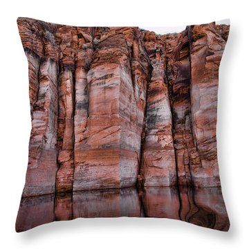 Lake Powell Water Canyon Throw Pillow by Jon Berghoff