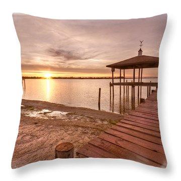 Lakeside Throw Pillow by Debra and Dave Vanderlaan