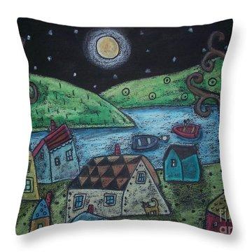 Lakeside Town Throw Pillow by Karla Gerard