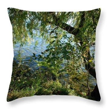 Lakeside Tree Throw Pillow