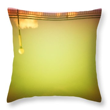 Lamp And Clouds In A Swimming Pool Throw Pillow