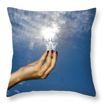 Lamp Bulb Throw Pillow
