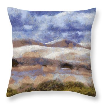 Throw Pillow featuring the digital art Lancelin by Roberto Gagliardi