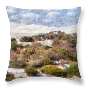 Throw Pillow featuring the digital art Lancelin White Sands  by Roberto Gagliardi