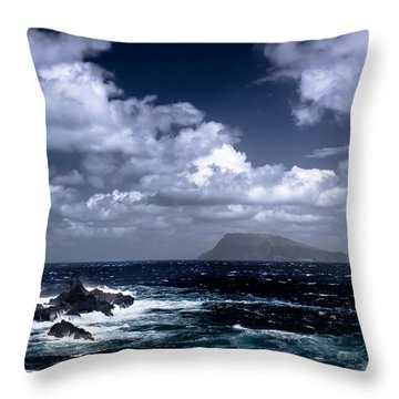 Land In Sight Throw Pillow by Edgar Laureano
