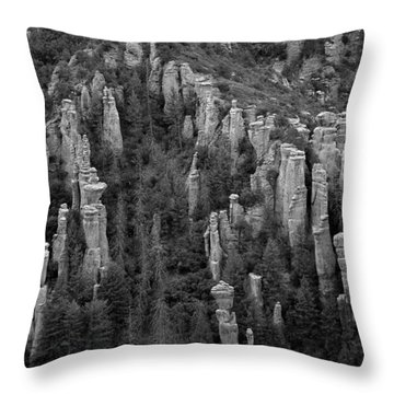 Throw Pillow featuring the photograph Land Of Standing Up Rock  by Vicki Pelham