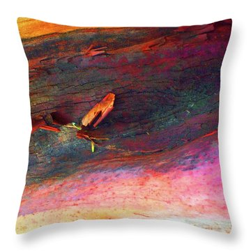 Throw Pillow featuring the digital art Landing by Richard Laeton