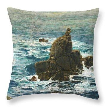 Land's End Throw Pillow by John Brett