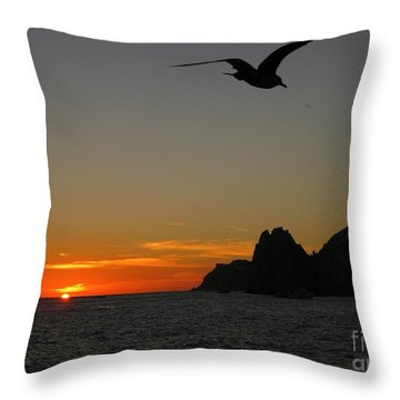 Land's End Sunset Throw Pillow by Judee Stalmack