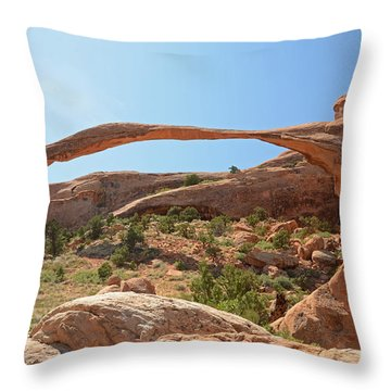 Landscape Arch Throw Pillow by Cassie Marie Photography