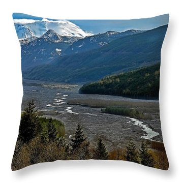 Landscape Of Mount St. Helens Volcano Washington State Art Prints Throw Pillow by Valerie Garner