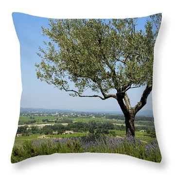 Landscape Of Provence. France Throw Pillow by Bernard Jaubert