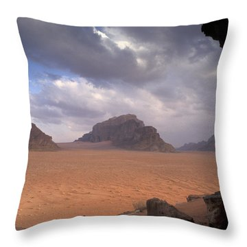 Landscape Of The Desert Throw Pillow by Richard Nowitz