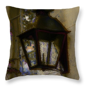 Lantern 11 Throw Pillow by Donna Bentley