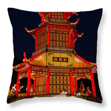 Throw Pillow featuring the photograph Lantern Lights by Vivian Christopher