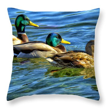 Larry Moe And Shirley Throw Pillow by Dominic Piperata