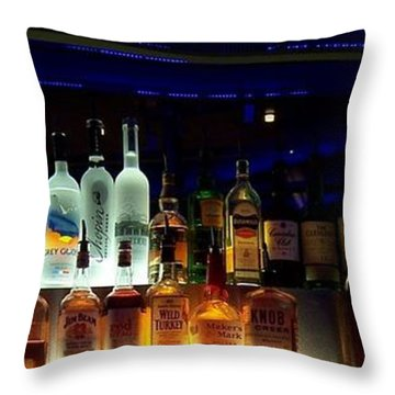 Throw Pillow featuring the photograph Las Vegas Hard Rock Cafe by Peter Mooyman