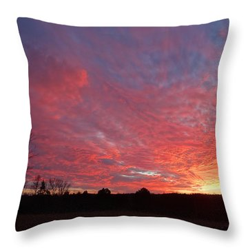Throw Pillow featuring the painting Lascassas Sunset One by Carol Berning