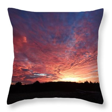 Lascassas Sunset Two Throw Pillow by Carol Berning