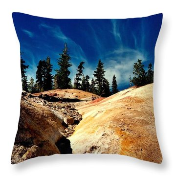 Lassen Volcanic National Park Throw Pillow by Peter Mooyman