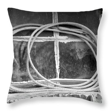 Throw Pillow featuring the photograph Lasso In The Window  by Deniece Platt