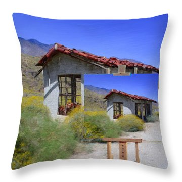 Last Chance Throw Pillow by Snake Jagger