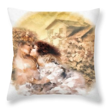 Last Day Of Summer Throw Pillow by Mo T