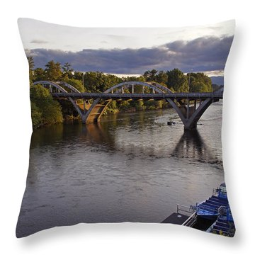 Last Light On Caveman Bridge Throw Pillow