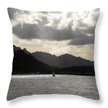 Throw Pillow featuring the photograph Last One Home by Carol Sweetwood