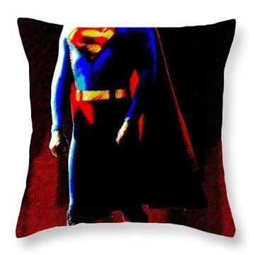 Last Son Of Krypton Throw Pillow by Saad Hasnain