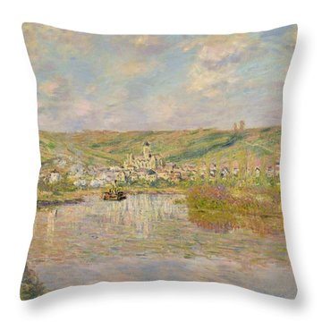 Late Afternoon - Vetheuil Throw Pillow