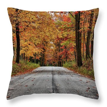 Throw Pillow featuring the photograph Late Autumn Embrace by Rachel Cohen